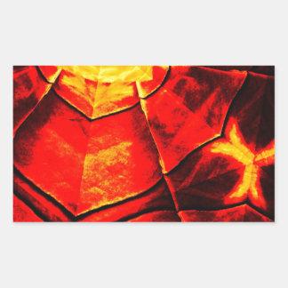 Teste padrão vermelho desvanecido adesivo retangular