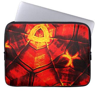 Teste padrão vermelho desvanecido capas de computadores notebooks