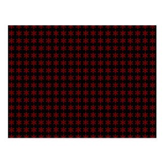 Teste padrão vermelho do floco de neve com fundo p cartoes postais