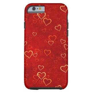 teste padrão vermelho dos corações capa para iPhone 6 tough
