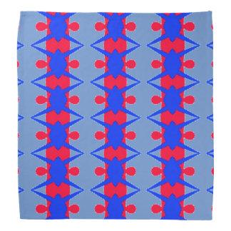 Teste padrão vermelho e azul lunático no Bandana