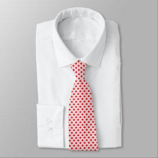 Teste padrão vermelho e branco da folha de bordo gravata