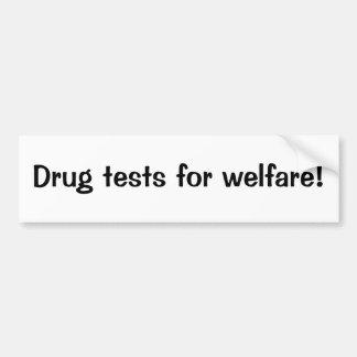 Testes de droga para o bem-estar adesivo para carro