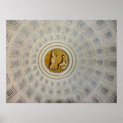 Teto abobadado decorativo (2), Roma Poster