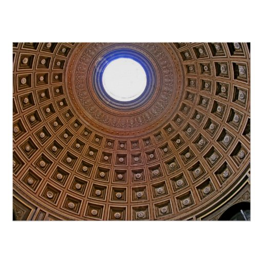 Teto abobadado decorativo, Roma Posters