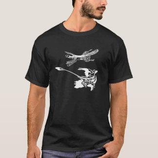 """Tetrapteryx"" & t-shirt de Microraptor"