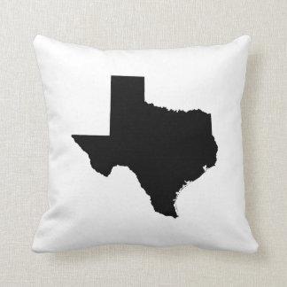 Texas em preto e branco travesseiro de decoração