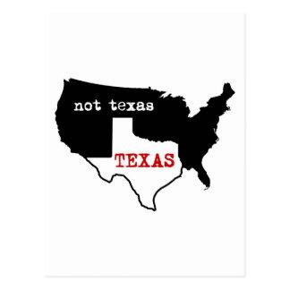 Texas/não Texas Cartão Postal