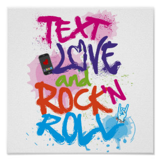 Texto, amor & rock and roll pôster