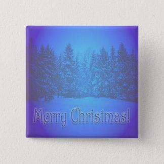 Texto claro dos pinheiros azuis bóton quadrado 5.08cm