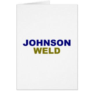 Texto da obscuridade da Johnson-Solda Cartão