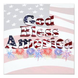 Texto de América dos deus abençoe com Convite Personalizado