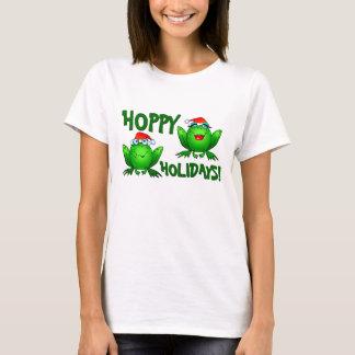 Texto Hoppy do verde da camisa dos sapos dos