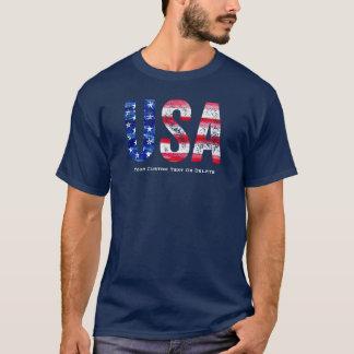 Texto legal do costume da bandeira americana dos camiseta