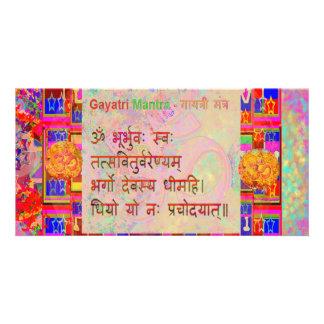 Texto sânscrito da mantra da mantra n Gayatri do O Cartão Com Foto Personalizado