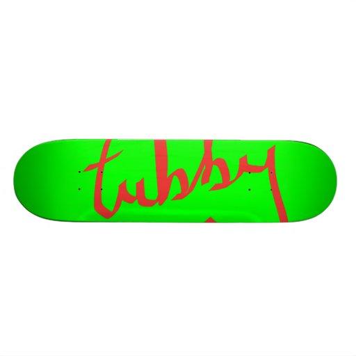 Texto Tubby Skate