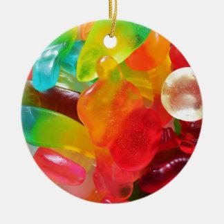 textura colorida da goma da geléia ornamento de cerâmica redondo