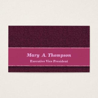 Textura cor-de-rosa escura cartão de visitas
