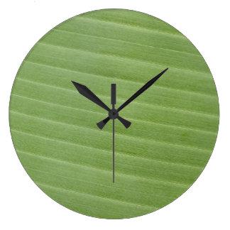 Textura da folha da banana relógio grande