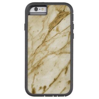 Textura de mármore bonita (laranja cinzenta) capa iPhone 6 tough xtreme