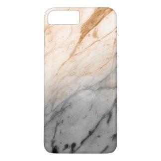Textura de mármore (laranja cinzenta) capa iPhone 7 plus