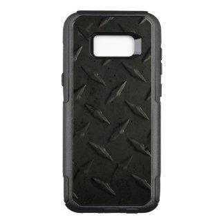 Textura do metal do FALSO da caixa | da galáxia 7 Capa OtterBox Commuter Para Samsung Galaxy S8+