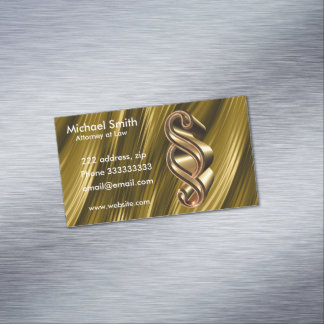 Textura dourada cartão de visitas magnético