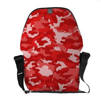 Textura militar do teste padrão da camuflagem de bolsas mensageiro