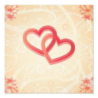 textura romântica com convite dos corações