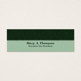 Textura verde escuro cartão de visitas mini