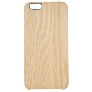 texturas de madeira claras do conselho capa para iPhone 6 plus clear