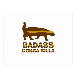 Texugo de mel - cobra Killa de Badass Cartão Postal
