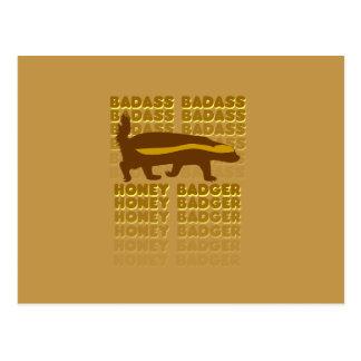 Texugo de mel de Badass Cartão Postal