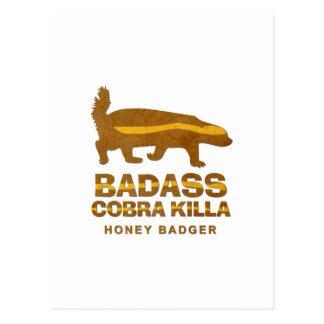 Texugo de mel de Killa da cobra de Badass Cartão Postal
