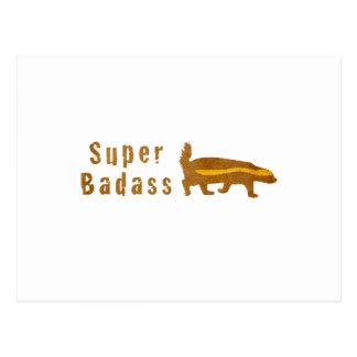 Texugo de mel super de Badass - vintage Cartão Postal