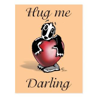 Texugo do lil de Daxtari - me abrace querido - car Cartão Postal