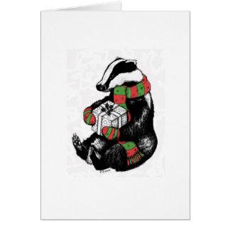 Texugo do Natal Cartão Comemorativo