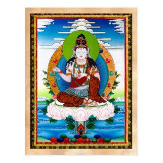 Thangka tibetano oriental legal Mahacakravajra Cartão Postal