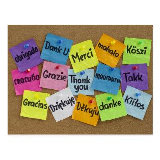Thank you! cartão postal