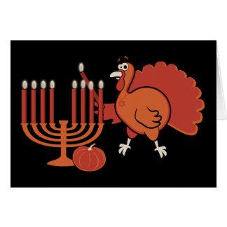 'Thanksgivukkah festivo Cartão Comemorativo