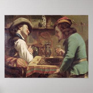 The Game dos esboços 1844 Impressão