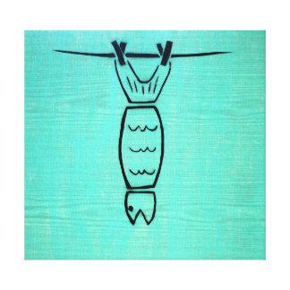 The peixe impressão em tela