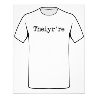 Theiyr're seu lá são erro tipográfico da gramática flyer 11.43 x 14.22cm