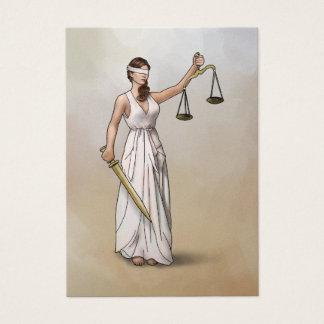 Themis - senhora Justiça Cartão De Visitas