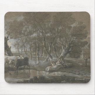 Thomas Gainsborough - uma paisagem enluarada Mouse Pad