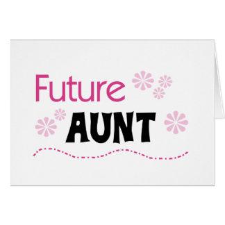 Tia futura Camiseta e presentes Cartão Comemorativo