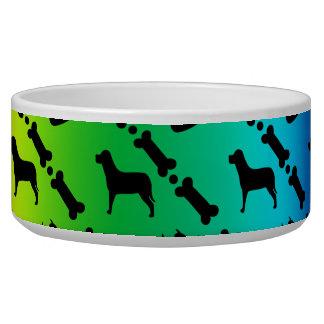 Tigela Bacia do cão do fundo do arco-íris