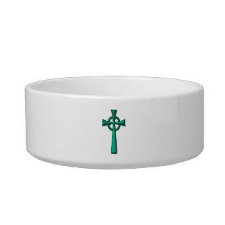 Tigela Cruz celta metálica verde
