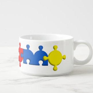 Tigela de Sopa Autismo Fonte Puzzle