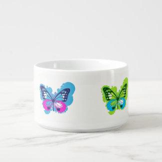 Tigela De Sopa Bacia da borboleta do pop art